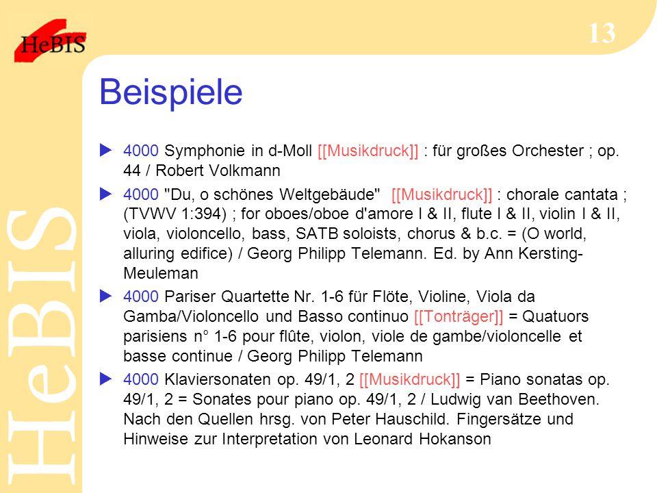 Beispiele 4000 Symphonie in d-Moll [[Musikdruck]] : für großes Orchester ; op. 44 / Robert Volkmann.